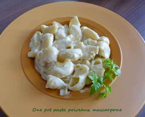 One pot pasta poireaux mascarpone P1240331 R