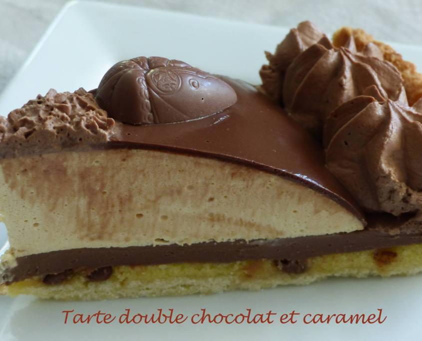 Tarte double chocolat et caramel P1170724 R