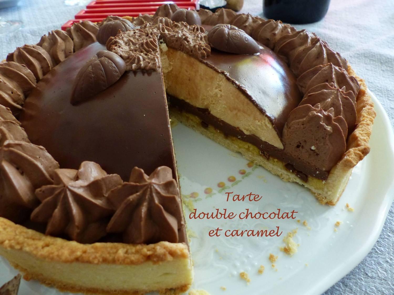 Tarte double chocolat et caramel P1170725 R