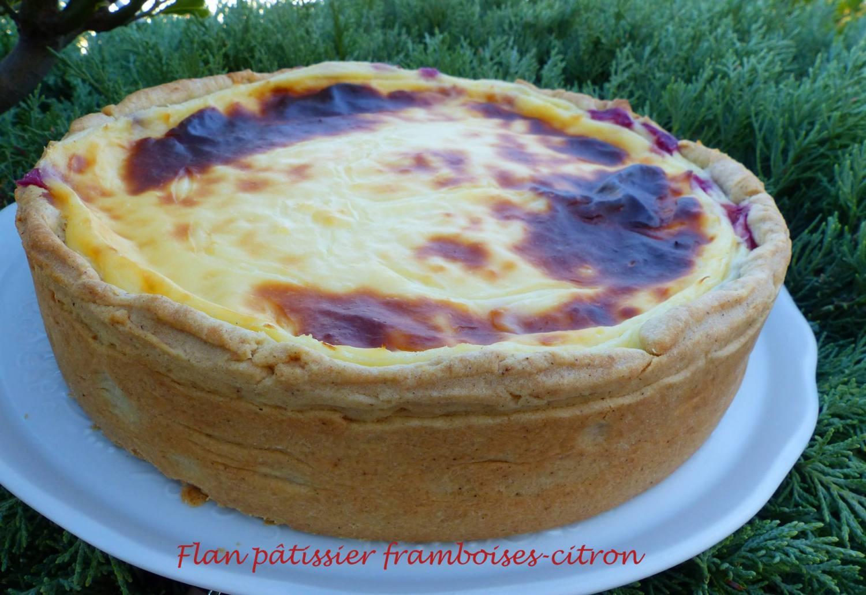 Flan pâtissier framboises-citron P1190463 R