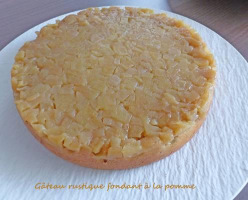 Gâteau rustique fondant à la pomme P1270063 R