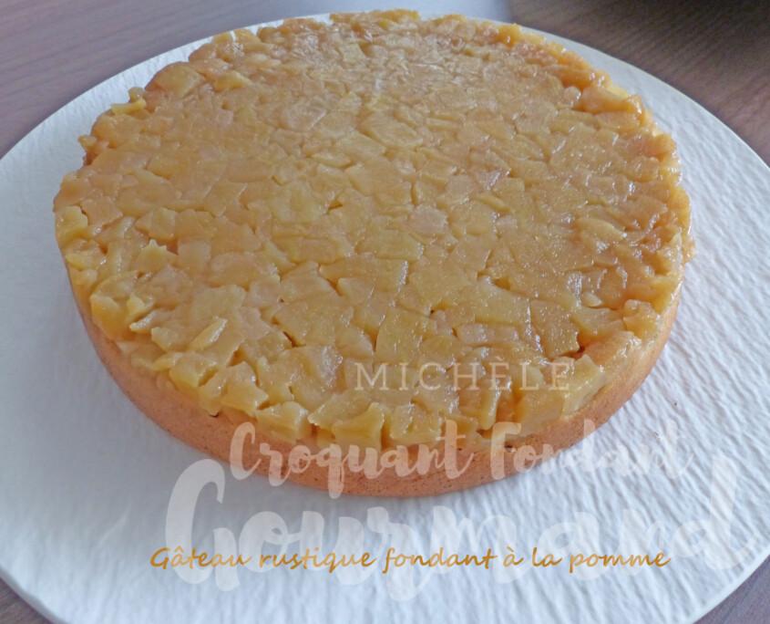 Gâteau rustique fondant à la pomme P1270064 R