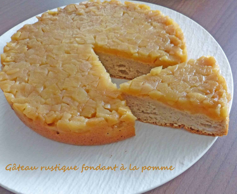 Gâteau rustique fondant à la pomme P1270066 R