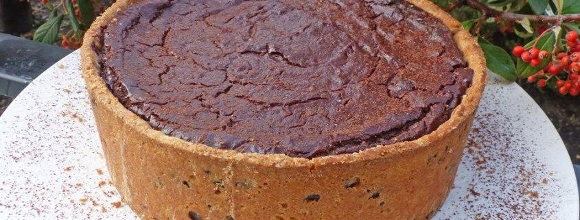 Flan pâtissier au chocolat et cookies P1270548 R (Copy)