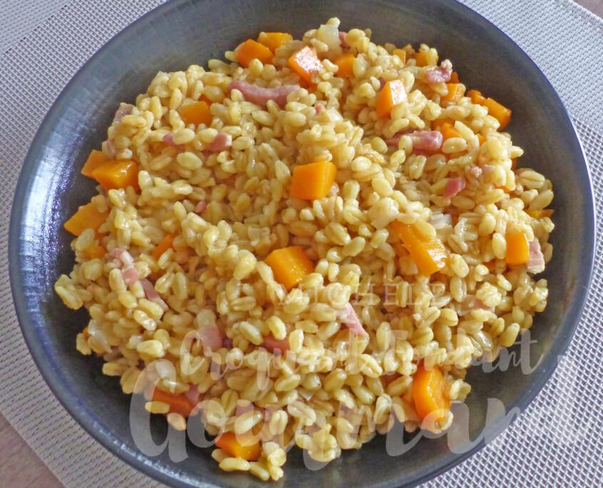 Poêlée de blé aux carottes et lardons P1270564 R