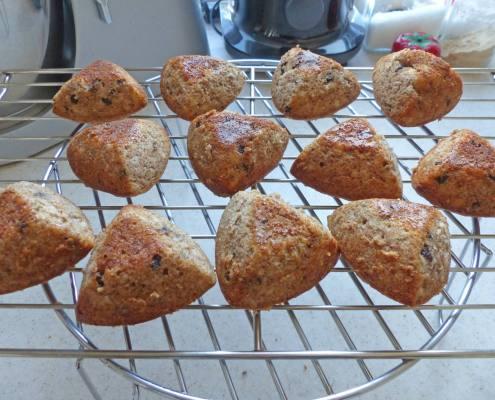 Muffins banane noix et chocolat P1270806