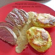 Magret de canard avec sa pomme de terre P1280762 R