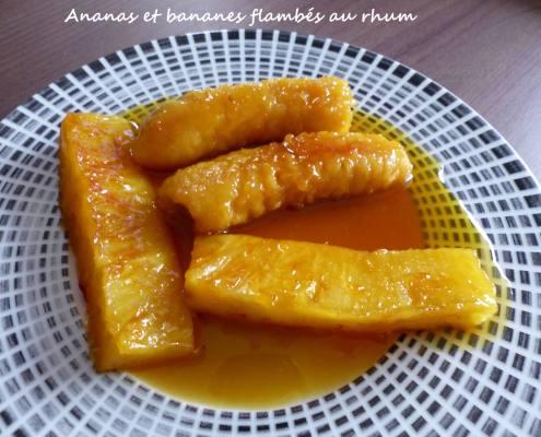 Ananas et bananes flambés au rhum P1280501 R