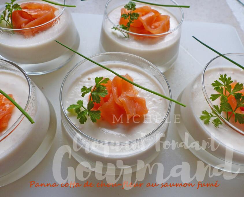 Panna cotta de chou-fleur au saumon fumé P1290207 R