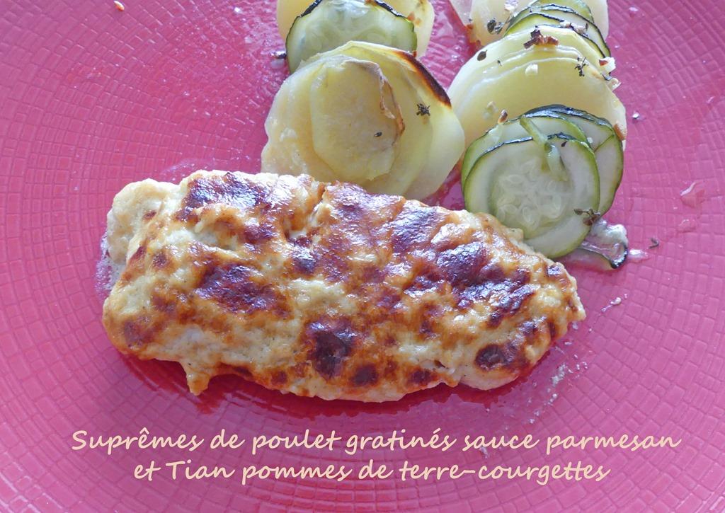 Suprêmes de poulet gratinés sauce parmesan et Tian pommes de terre-courgettes P1010748 R (Copy)