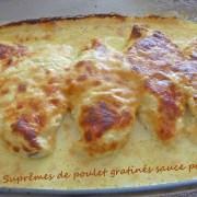 Suprêmes de poulet gratinés sauce parmesanP1010746 R (Copy)
