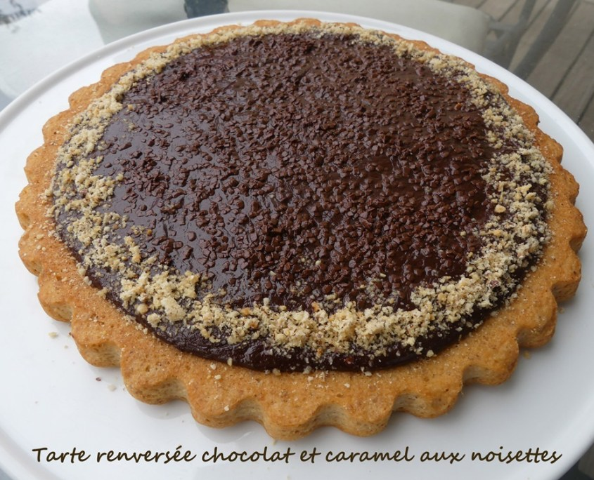 Tarte renversée chocolat et caramel aux noisettes P1020631 R (Copy)