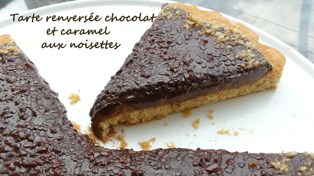 Tarte renversée chocolat et caramel aux noisettes P1020637 R (Copy)