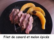 Filet de canard et melon épicés Index DSCN5738