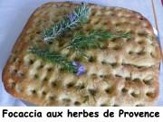 Focaccia aux herbes de Provence Index P1030467