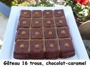 Gâteau 16 trous, chocolat-caramel Index P1020376