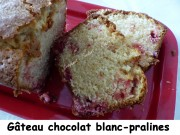Gâteau chocolat blanc-pralines Index P1020310