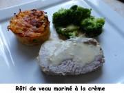 Rôti de veau mariné à la crème Index P1000694