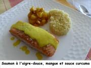 Saumon à l'aigre-douce, mangue et sauce curcuma Index P1020117