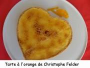 Tarte à l'orange de Christophe Felder Index DSCN2595