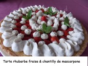 Tarte rhubarbe-fraise & chantilly de mascarpone Index DSCN6750_26870