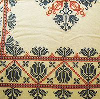 stitched detail of a typical 2 color Saxon example