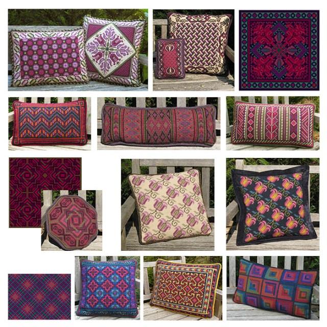 Plum,Raspberry Purple Reds for cross-point winter stitching
