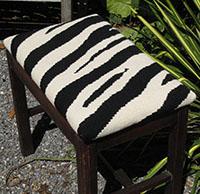 Zebra Upholstery on Stool