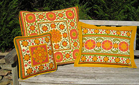 A group of Moghul 03 pillows