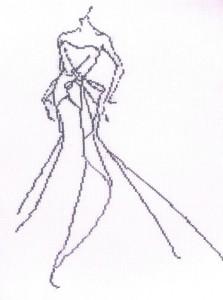 cross stitch fashion sketch 3