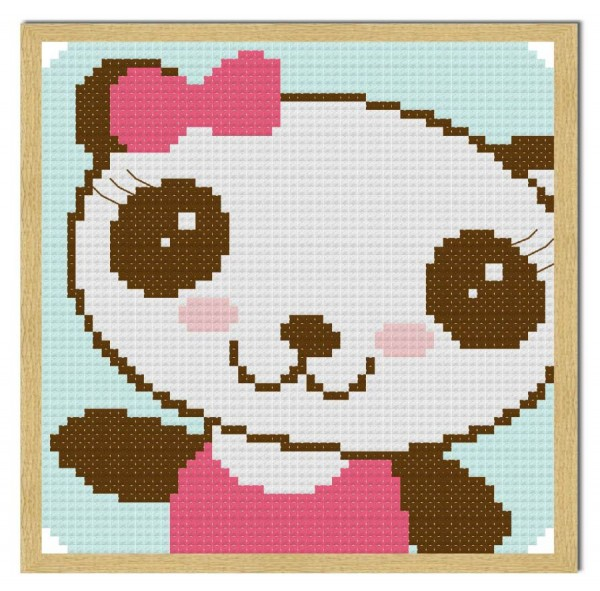 Cutie bear cross-stitch chart