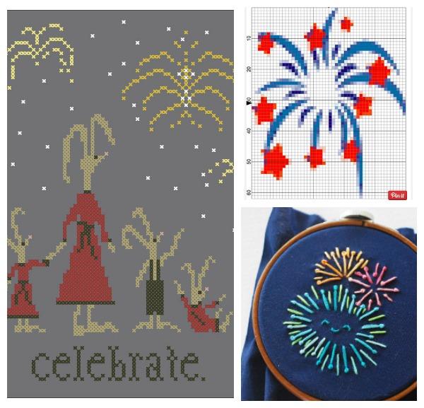 fireworks cross stitch patterns