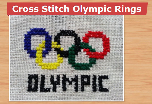 corss stitch olympic rings