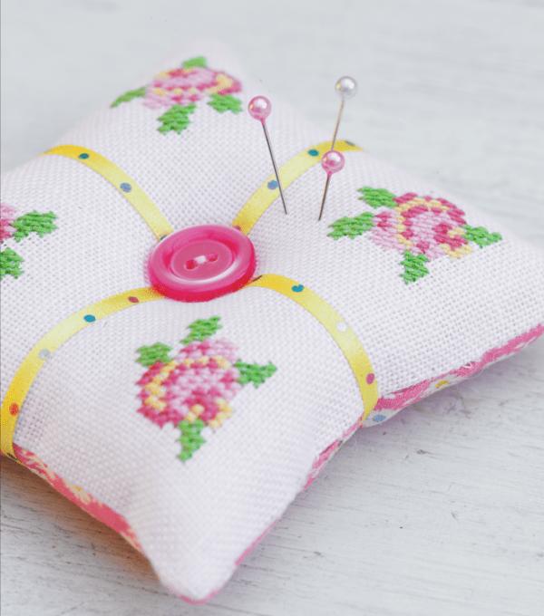 Rose pincushion pattern
