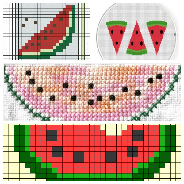Watermelon cross stitch charts