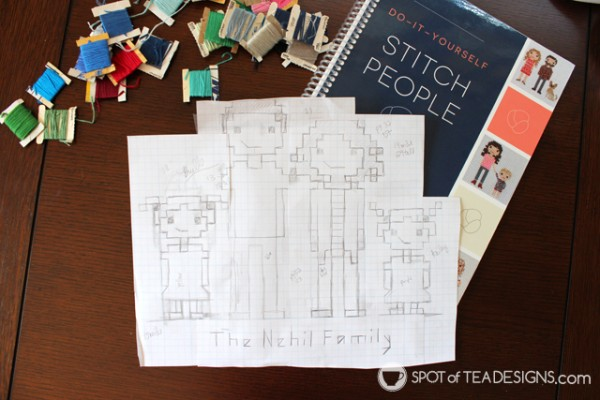 Stitch your family with help from do it yourself stitch people stitch your family portrait with help from do it yourself stitch people book solutioingenieria Choice Image