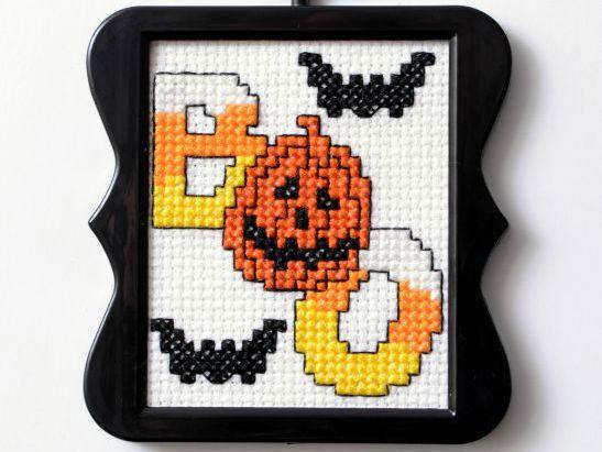 Boo cross stitch pattern