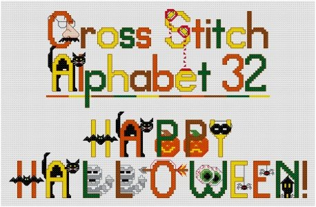 Stitch up some fun with a Halloween themed cross stitch alphabet.