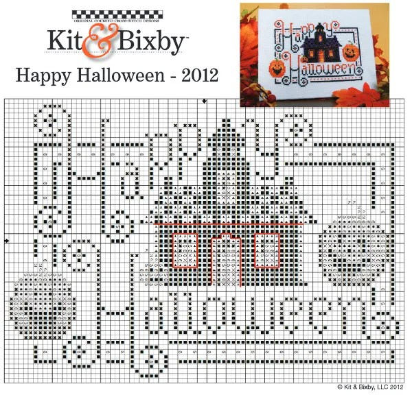 Happy Halloween cross stitch chart
