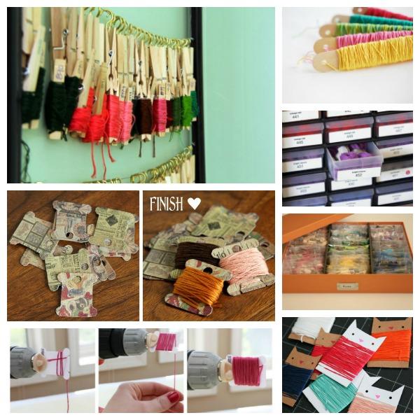 Ideas for cross stitch floss organization.