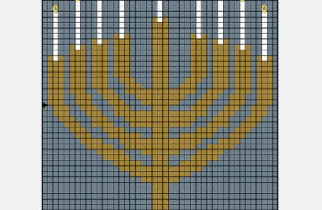 Hanukkah Cross Stitch and Hebrew Alphabet Fonts