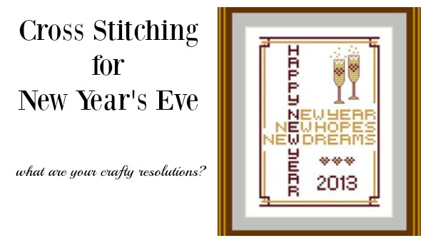 new year's cross stitch chart