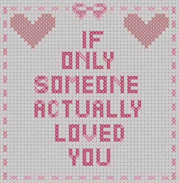 anti-valentine cross stitch pattern