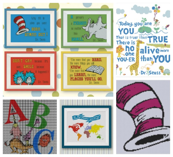 Dr. Seuss Cross Stitch Patterns