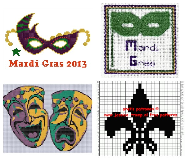 Mardi Gras Cross Stitch Patterns