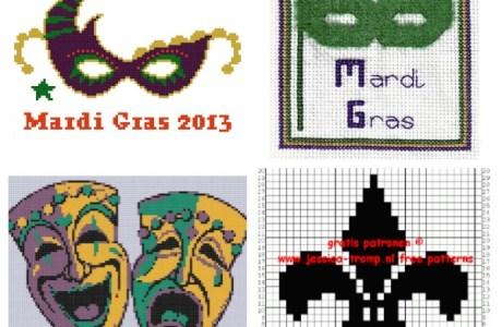 Mardi Gras Cross Stitch Patterns