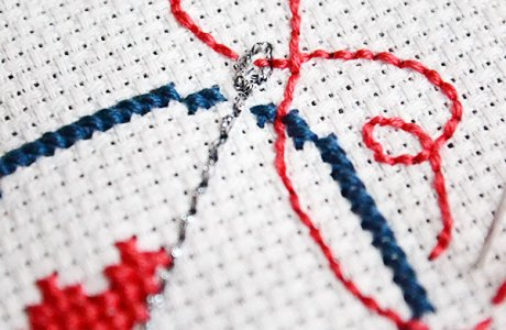 How to Backstitch Curves on a Cross-stitch Project