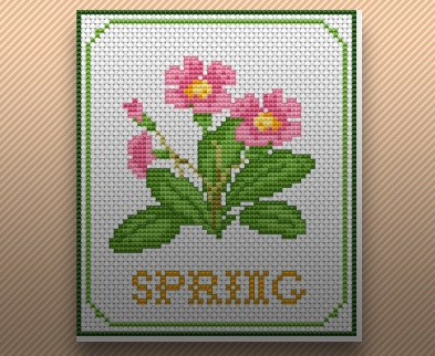 spring cross stitch pattern