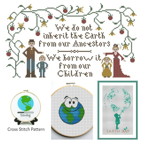 Earth Day cross stitch patterns