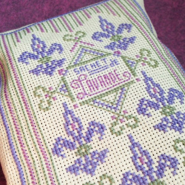 Lavender Sachets are a Perfect Spring Stitching Project